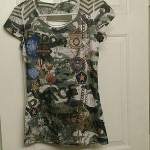Tops - Girly army shirt