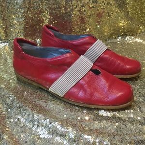Red Jet Made in Italy Slip Ons Size 36