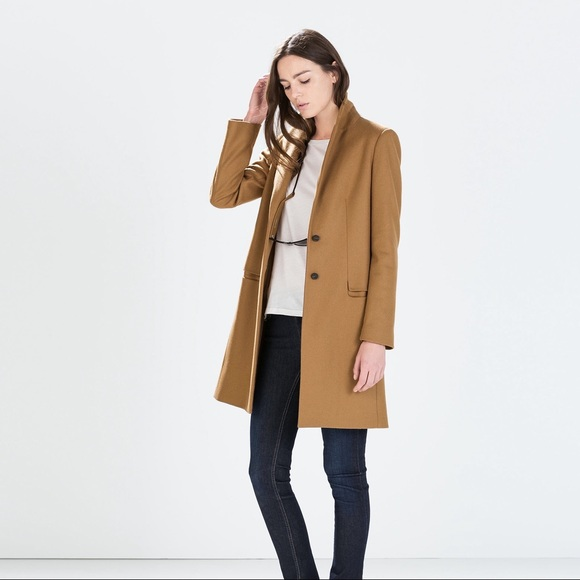 ee9ef873 ZARA Wool Camel Coat