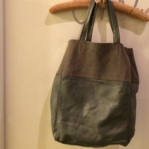 H&M bag imitation leather n suede