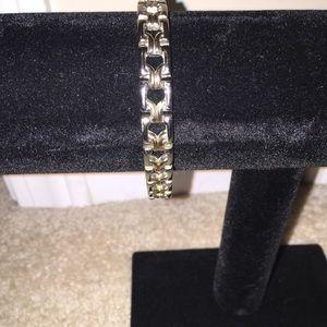 ✨Gold& Sterling silver ladies link bracelet ✨