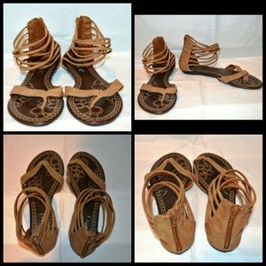 Traffic Shoes - Traffic Strap Sandals Brown- size 7 New w/o Tag
