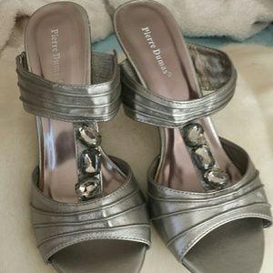 Pierre Dumas Shoes - Silver bling shoes