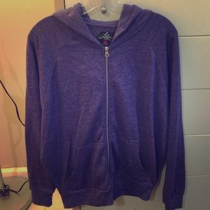Purple Zipper Hoody Women's Sz M