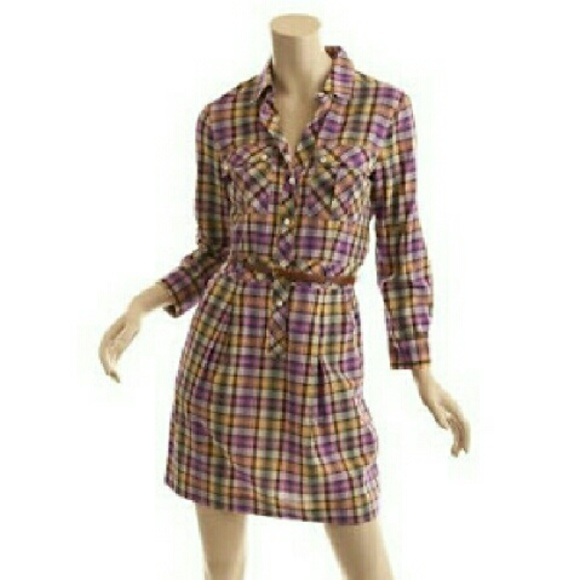 a3419a2fb6 Theory Dresses | Plaid Shirt Dress | Poshmark