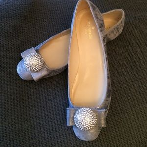 kate spade Shoes - New Kate Spade gray leather flats round toe size 8