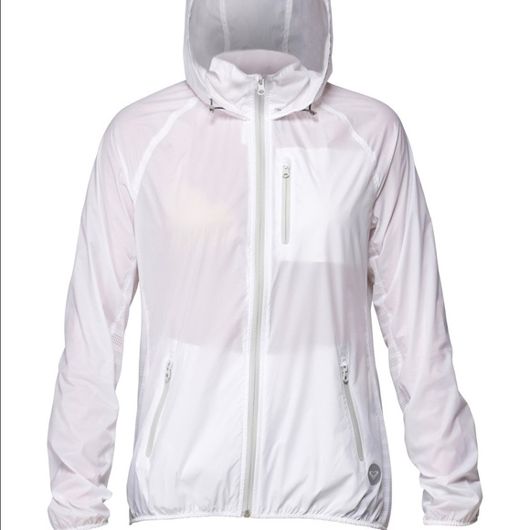 88% off Roxy Jackets & Blazers - White roxy windbreaker jacket ...