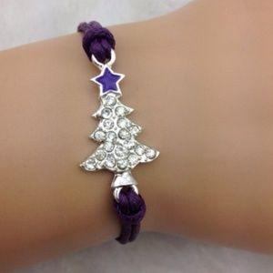 Jewelry - Purple Christmas Tree Bracelet