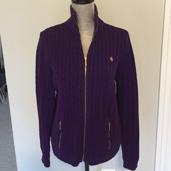 69% off Ralph Lauren Sweaters - 🎀Ralph Lauren cable knit zip up ...
