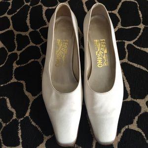 Vintage Salvatore Ferragamo Bridal Shoes