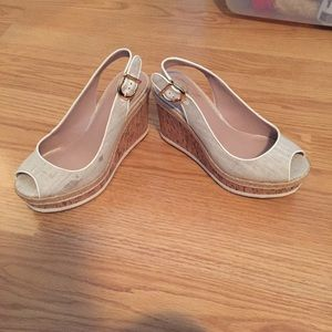 Vince Camuto cork wedges