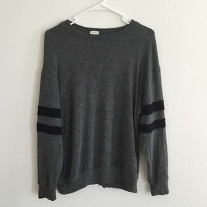 😍 Host Pick! Brandy Melville grey striped sweater