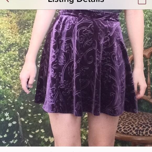 56% Off Forever 21 Dresses U0026 Skirts - Forever 21 Purple Velvet Skirt From ! Samantha Ud83cudf3bu0026#39;s Closet ...