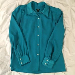 J. Crew Factory Silky Button Down Blouse (XS)