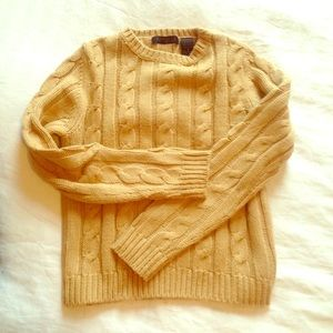 Express camel color cable knit sweater