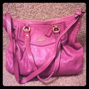 Leather Coach Bag: Crossbody