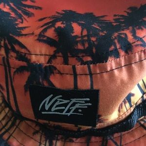 969c21957f8 Neff Accessories - Neff Palm tree bucket hat with chin strap