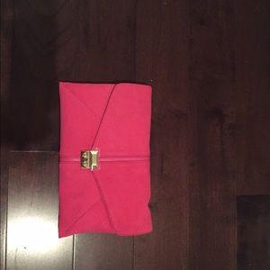 henri bendel Handbags - NWT pink suede Henri Bendel envelope clutch
