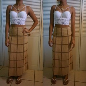 Vintage Genuine Leather Skirt