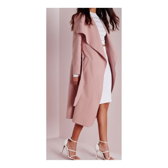 60% off Jackets &amp Blazers - Large dusty pink pale Rose waterfall