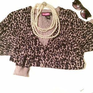 Leopard print cardigan 💄