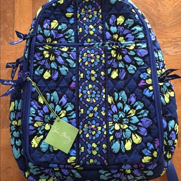 7d21034032e Vera Bradley Bags   Nwt Backpack Diaper Bag Indigo Pop   Poshmark