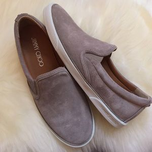 "Jimmy Choo ""Demi"" Suede Slip-On Sneakers"