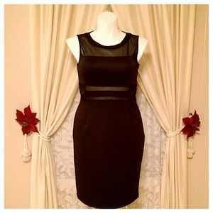 Black Illusion Dress NWT