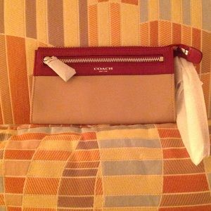 Large All leather wristlet