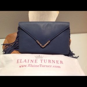 Elaine Turner Clutches & Wallets - 🆕Elaine Turner Bo Slate Fringe Clutch