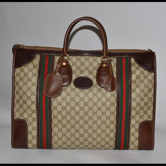30222a2cce Gucci Bags | Auth Vintage Travel Bag In Brown Made In 70s | Poshmark