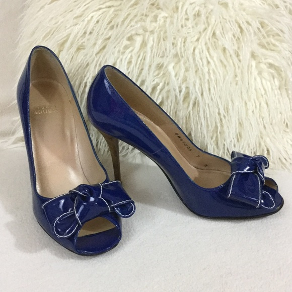 ba01c416354 Stuart Weitzman Royal blue patent leather heels. M 565ba4e041b4e0dd32008d04