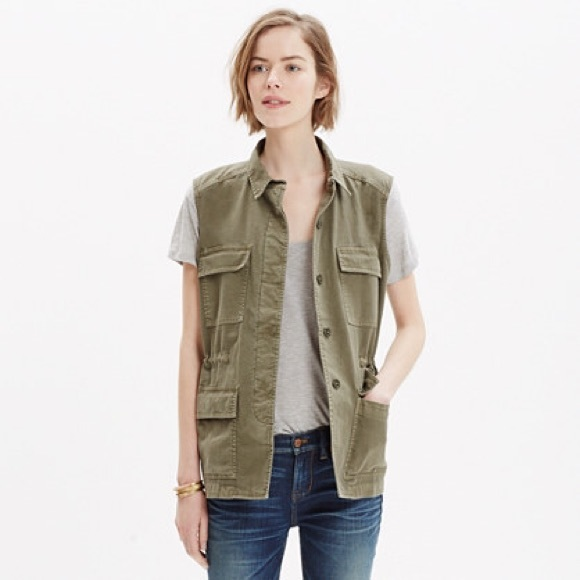 Madewell Jackets & Blazers - Madewell Military Style Army Green Jacket Vest L