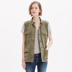 Madewell Jackets & Coats - Madewell Military Style Army Green Jacket Vest L