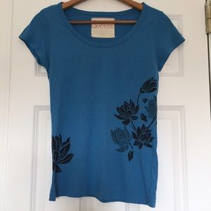 Graphic Floral Tee Shirt