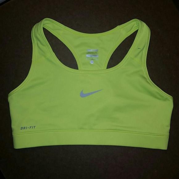 a1a9ec1f1dd57 Nike dri fit sport bra M neon yellow NWOT. M 565ba8e23c6f9f9078008f8b