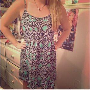 Turquoise tribal dress