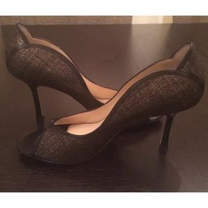 Never been worn Jimmy Choo peep toe pump