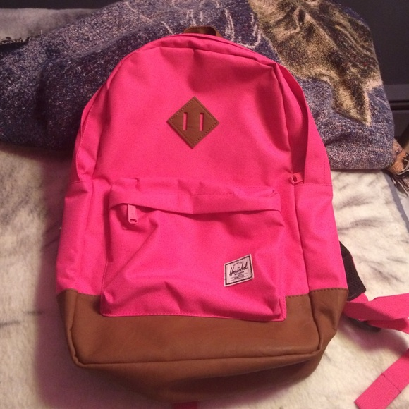 0260cf7b4e01 Herschel Supply Company Handbags - Herschel backpack hot pink   tan