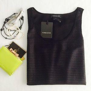 🎉HP🎉 Trouve woven semi-sheer tunic top