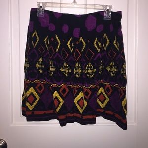 Tribal print skirt