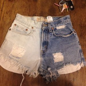 Denim - Levi's high waisted shorts, great condition!
