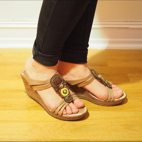 b6735046684 Bata Shoes - Bohemian Beads Wedges Sandals