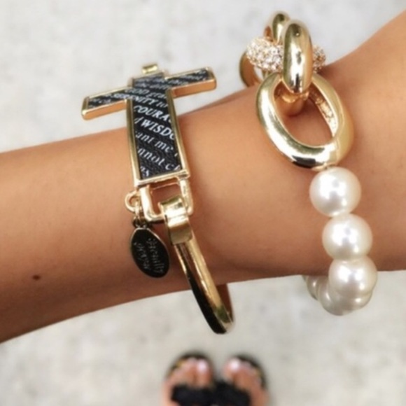 The Third Day Jewelry - Serenity Black And Gold Cross