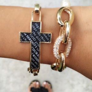 Serenity Black And Gold Cross