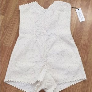 Saylor Pants - White romper/playsuit/jumpsuit medium: NWT
