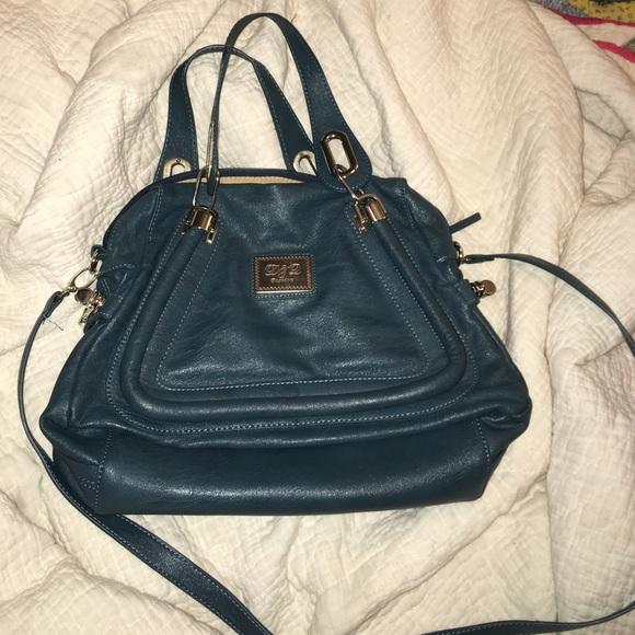 62% off D&L Handbags - Deep Peacock Blue handbag with great ...