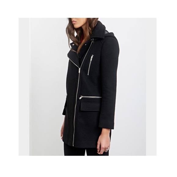 44% off Zara Jackets & Blazers - Black wool zipper coat from ...