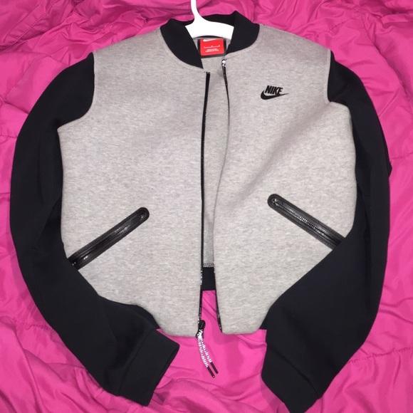 womens nike grey bomber jacket. M 565bd0747eb29f8340033ae7 352b9a58a