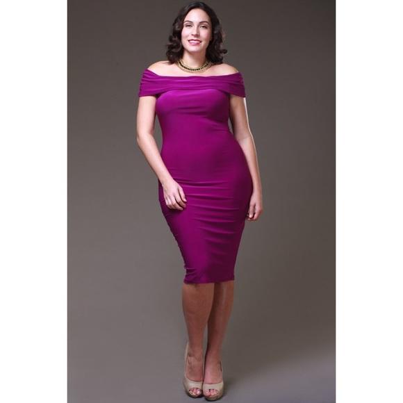 Dresses Purple Bodycon Plus Size Dress Poshmark